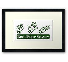 Ro Sham Bo - Rock Paper Scissors Framed Print
