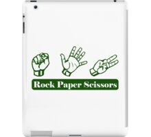 Ro Sham Bo - Rock Paper Scissors iPad Case/Skin