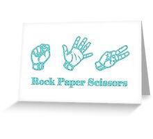 Ro Sham Bo - Rock Paper Scissors Greeting Card