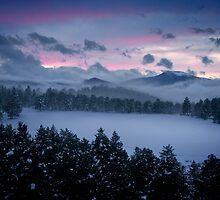 Sunset Over Evergreen by Armando Martinez