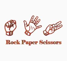 Ro Sham Bo - Rock Paper Scissors One Piece - Short Sleeve