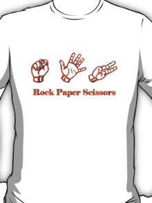Ro Sham Bo - Rock Paper Scissors T-Shirt