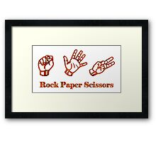 Ro Sham Bo - Rock Paper Scissors Framed Print