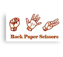 Ro Sham Bo - Rock Paper Scissors Canvas Print