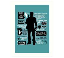 Dean Winchester Quotes Art Print