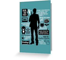 Dean Winchester Quotes Greeting Card