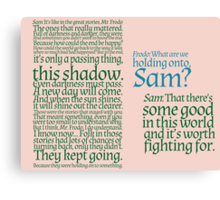 The Two Towers-- Sam's Speech Canvas Print