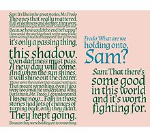 The Two Towers-- Sam's Speech Photographic Print