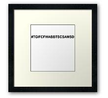 hashtag :: migraine Framed Print