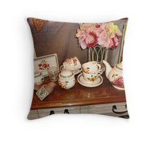 Lovely China Setting - Gift shop in Malden Throw Pillow