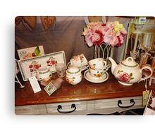 Lovely China Setting - Gift shop in Malden Canvas Print