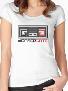#GamerGate NES Controller Logo Women's Fitted Scoop T-Shirt