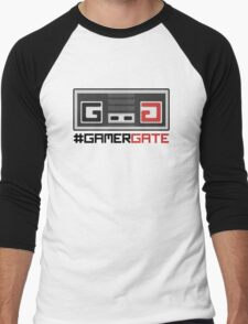 #GamerGate NES Controller Logo Men's Baseball ¾ T-Shirt
