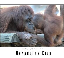 OURANGUTAN KISS by Claude Desrochers