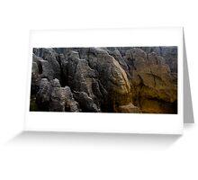 Pancake Rocks, New Zealand Greeting Card