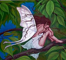 weeping cherry fairy by Leanne Inwood