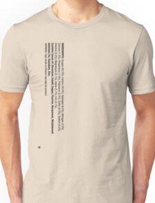 ingredients: (Drinker's version) Unisex T-Shirt