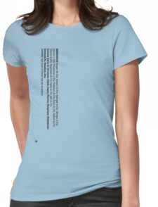 ingredients: (Drinker's version) Womens Fitted T-Shirt