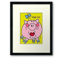piggy sue Framed Print