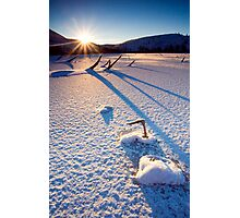 The Long Shadows of Winter Photographic Print