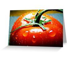 Juicy Tomato Greeting Card