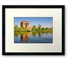 Temple of Philae in Aswan, Egypt. Framed Print