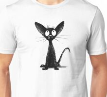 Funny Black Oriental Cat Unisex T-Shirt
