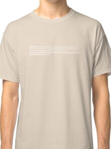 ingredients: horizontal Classic T-Shirt