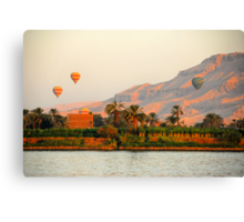 Hot Air Balloons over the Nile River, Egypt Canvas Print