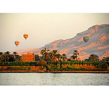 Hot Air Balloons over the Nile River, Egypt Photographic Print