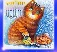 Happy Hanukkah by oxana zaika