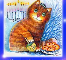 Happy Hanukkah by oxana zaika