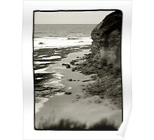 Bells Beach, VIC, Australia - B+W Poster