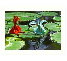 Meeting on the Lily Pad Art Print