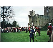 An enactment at Warwick Castle Photographic Print