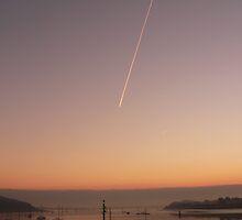 Contrail at dawn ....... by brummieboy