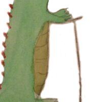 Classy Crocodile Sticker