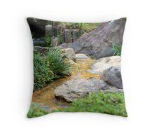 Japanese Garden Stream Throw Pillow
