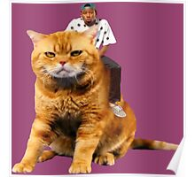 Tyler, the Creator riding cat Poster