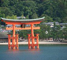 Miyajima's Floating Shrine by Harlequitmix