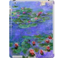 1914-1919 Water lilies, Red, oil on canvas. Claude Monet iPad Case/Skin