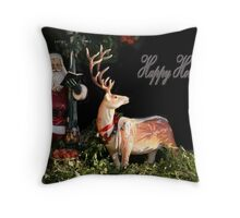 Christmas Tails Throw Pillow