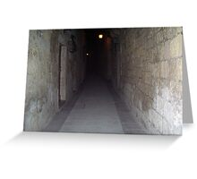 Old Mdina strait road by night Greeting Card