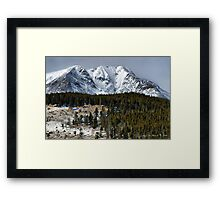 Winter In the Colorado Rockies Framed Print