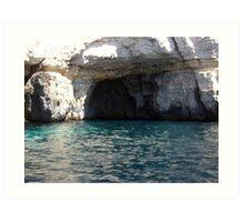 Caves at blue Grotto Art Print