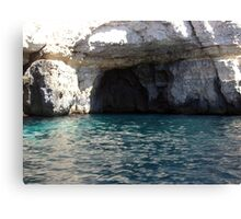 Caves at blue Grotto Canvas Print