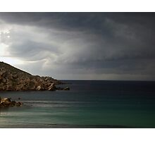 Storm approaching from over the sea Photographic Print