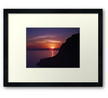 Sunset at Xlendi, Gozo Framed Print
