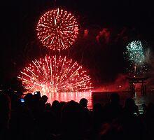 Miyajima Fireworks Festival 3 by Harlequitmix