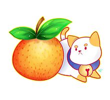 Orange PuppyCat Sticker by Kyuupeach